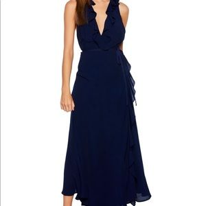 NWT Bardot Ruffle Maxi Dress